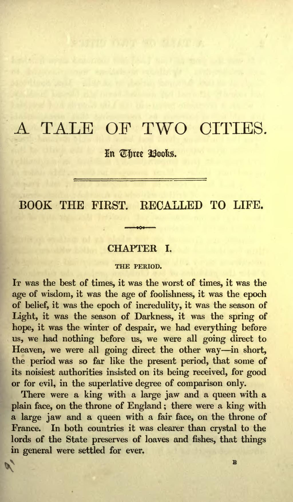 a tale of two cities summary pdf free download