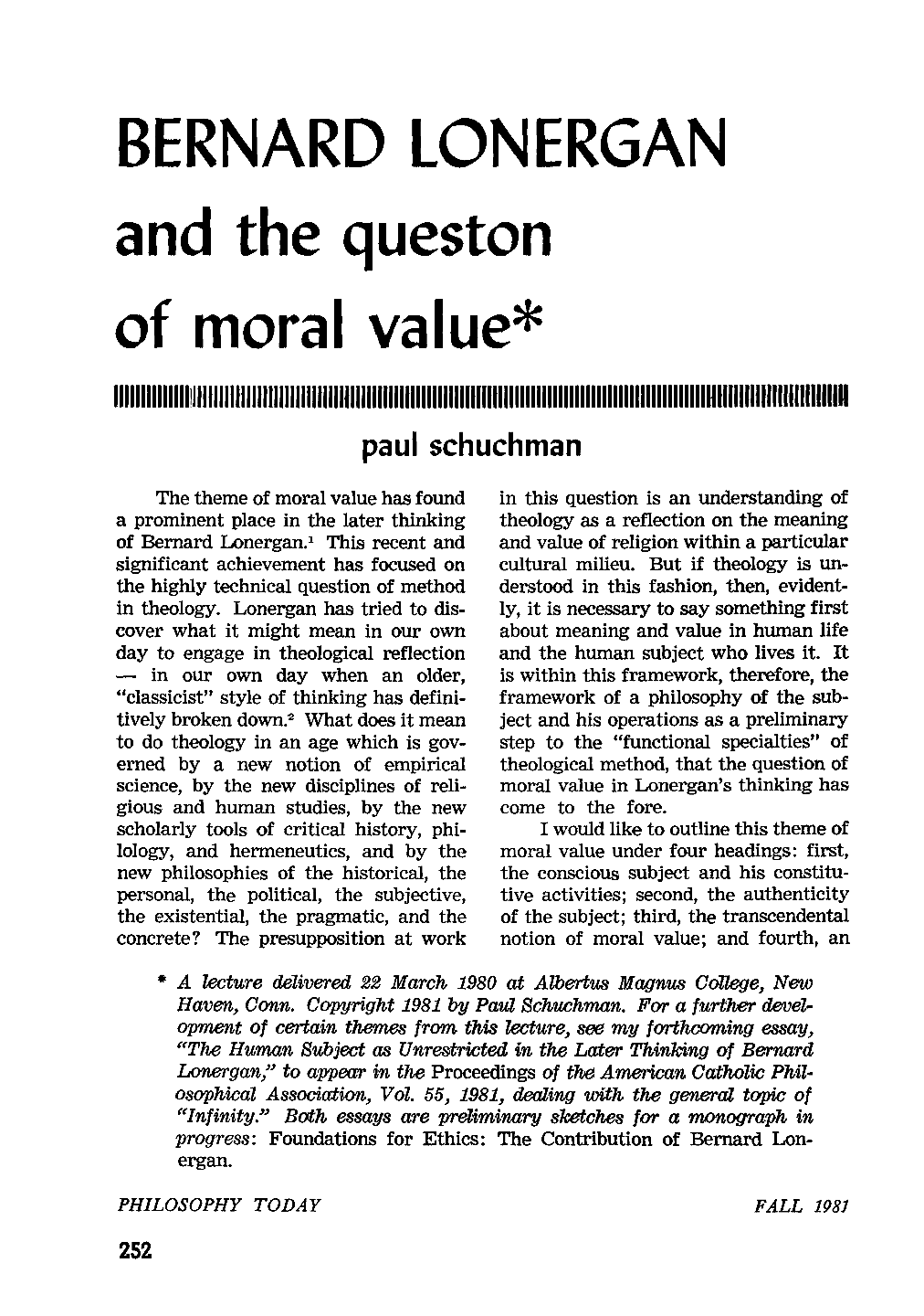 articles about philosophy of values pdf