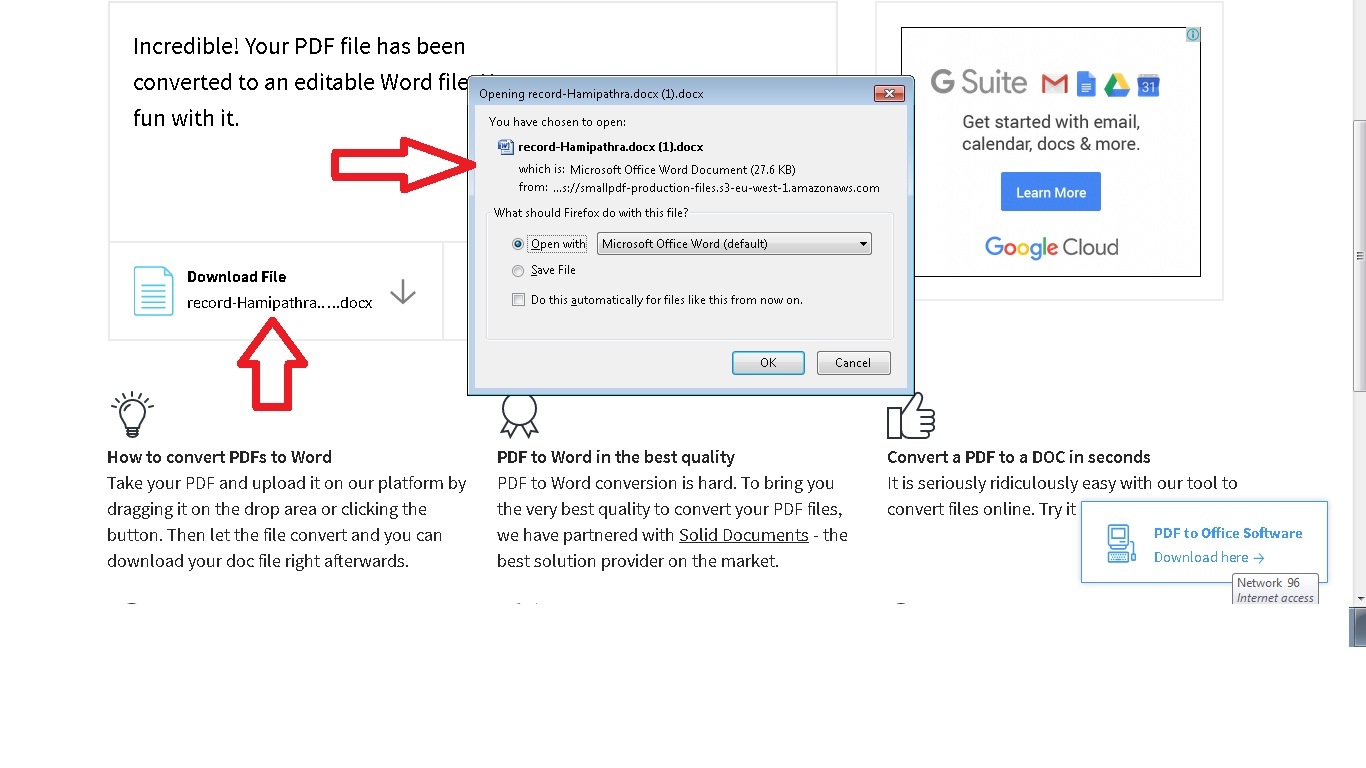 convergtg pdf to ms word