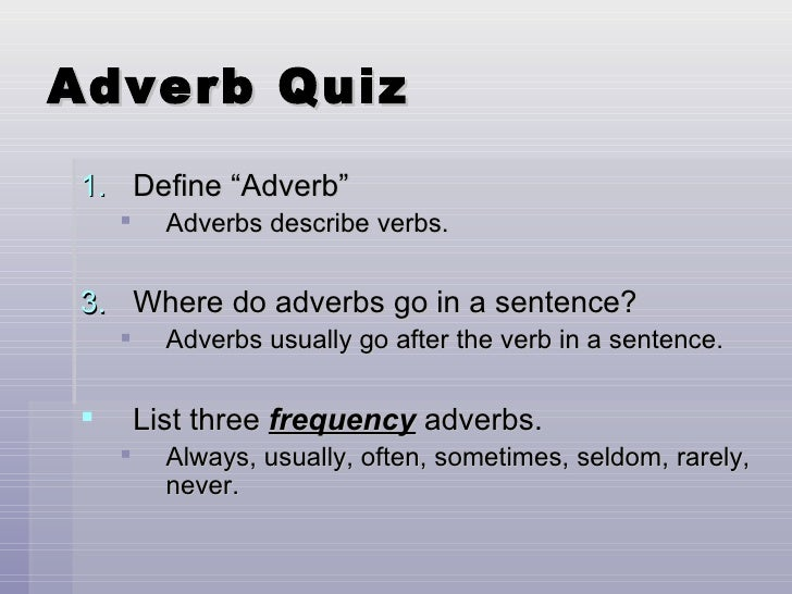 adverbs of frequency quiz pdf