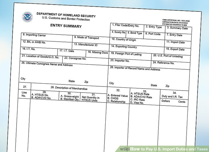 application for authority to release imported goods form