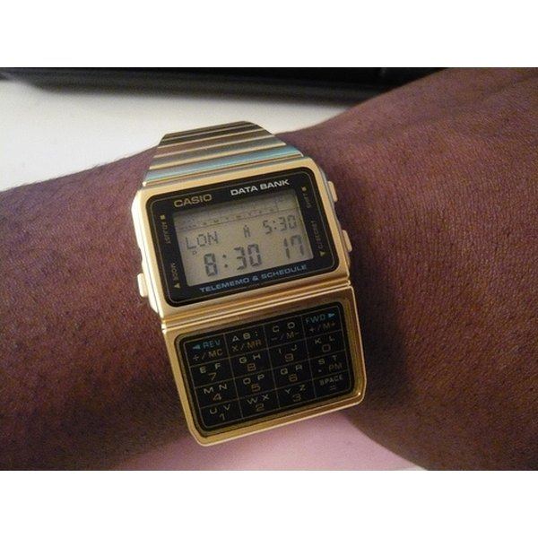 casio instructions for setting time