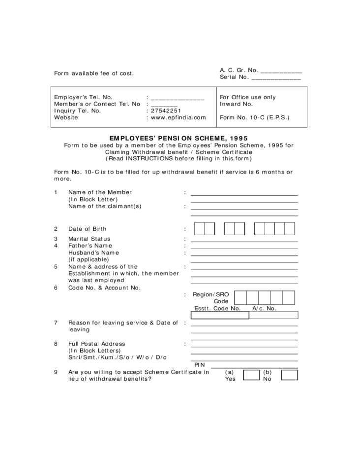 application for provident benefits form with fill up