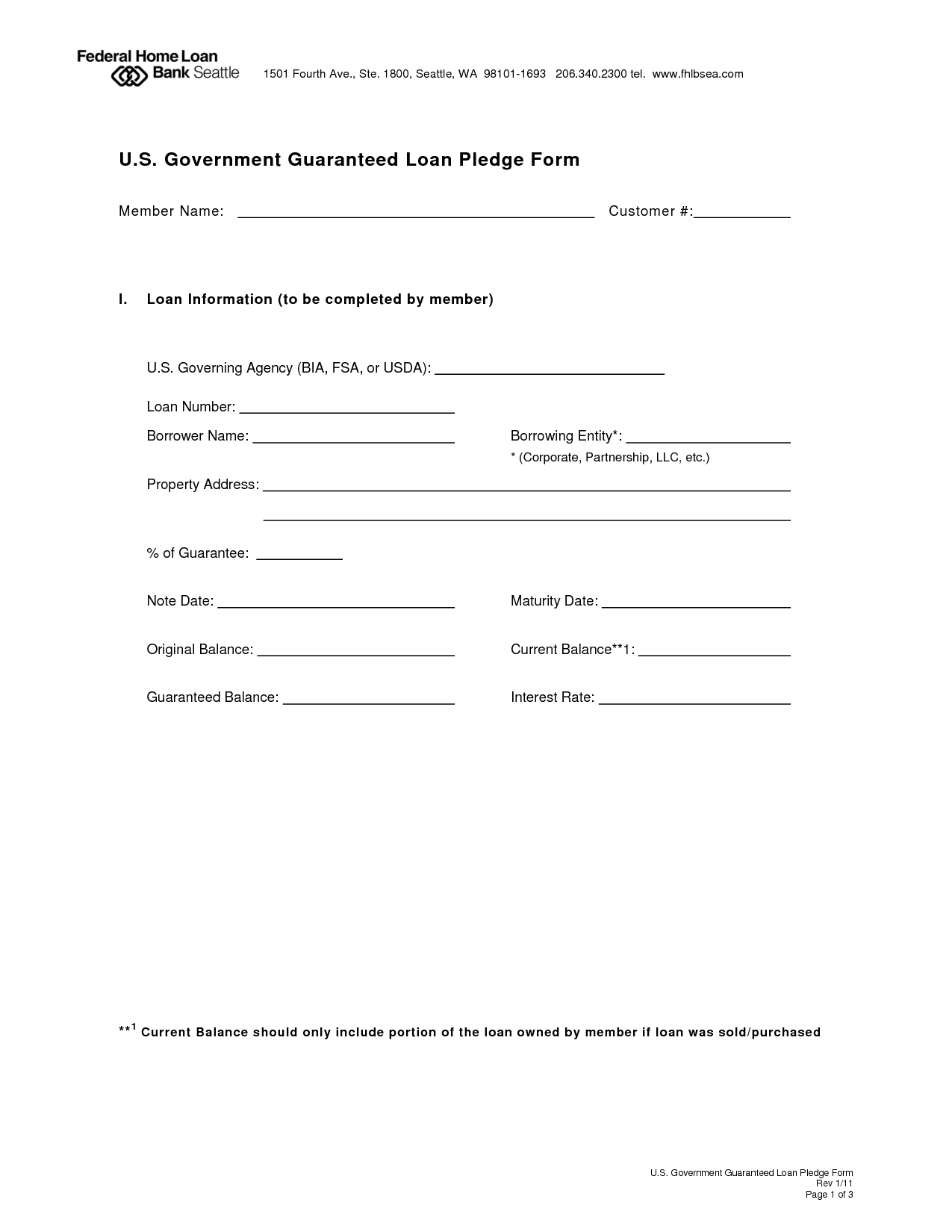 application form for cash agreement