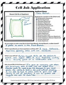 application for the position science