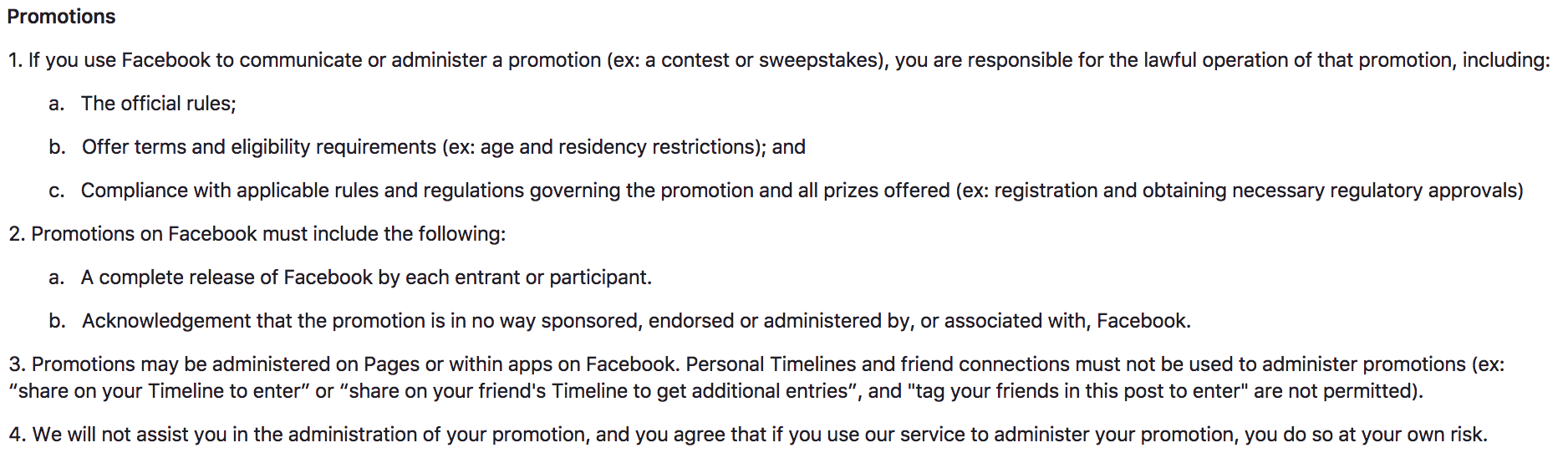 article about facebook messanger terms and agreement