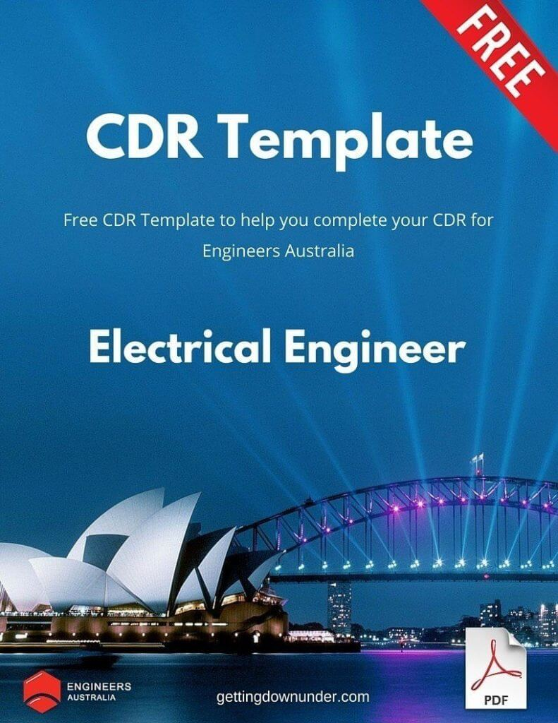 cdr for electronics engineer pdf