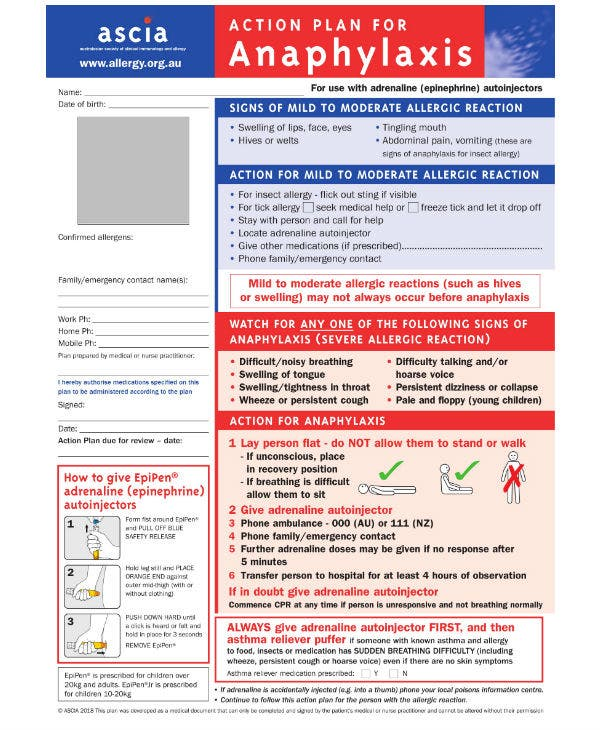 anaphylaxis guidelines 2018 pdf for children