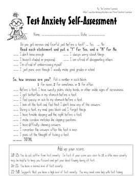anxiety questionnaire for students pdf