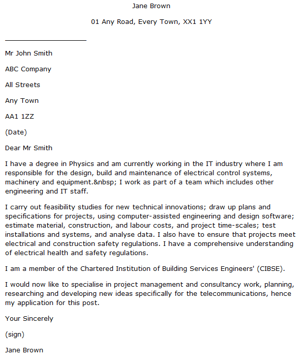 application letter for project staff