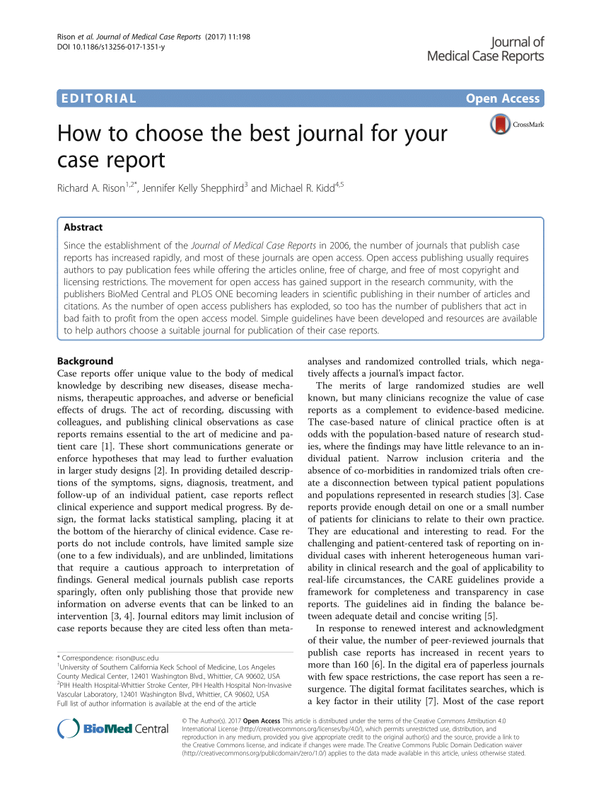 application of a journal article