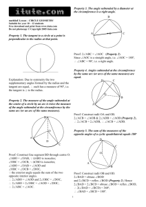 beam learning guide on chords arcs and central angles