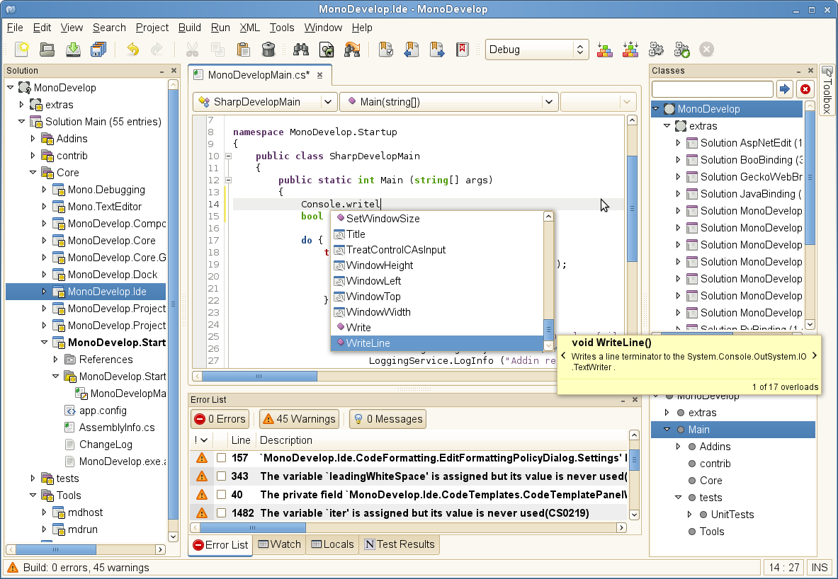 c free ide with console application windows