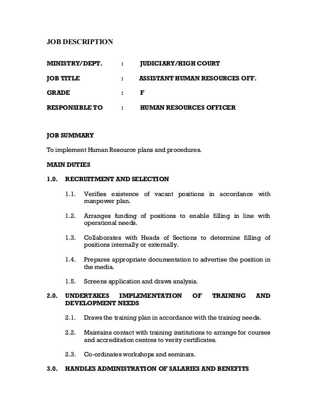 application letter for human resources assisstant