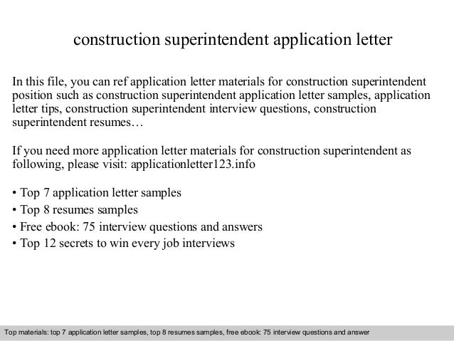 application letter for superintendent of schools
