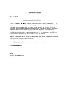 certificate of employment for visa application sample sales executive